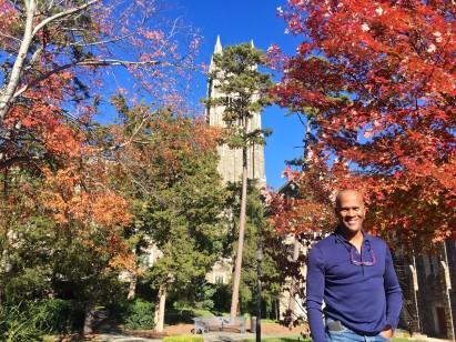 Friend Shaun at Duke University Chapel