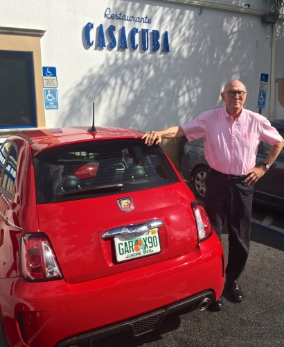 Edmundo's noisy little 2016 Chinese Red Fiat 500 Abarth