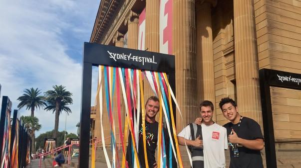 Still setting-up on Day 1 of Sydney Festival;  no nudity - till I get inside the Art Gallery!