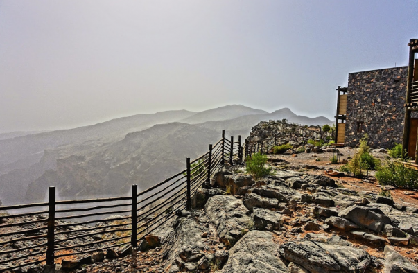 Alila Jabal Akhdar - spectacularly located in a desert clifftop 90 miles from Muscat
