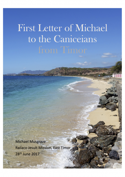 Cover - 'First Letter of Michael to the Caniceians'.