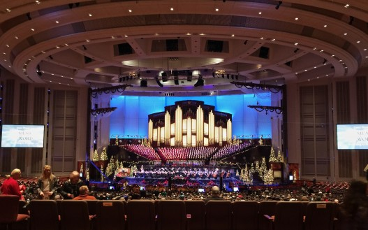 in the 21,000 person Mormon Conference Hall in Salt Lake City this morning