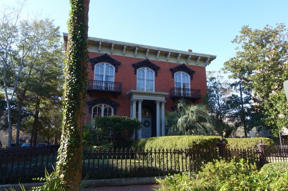 Mercer House in Savannah Ga - from the novel 'The Garden of Good and Evil'