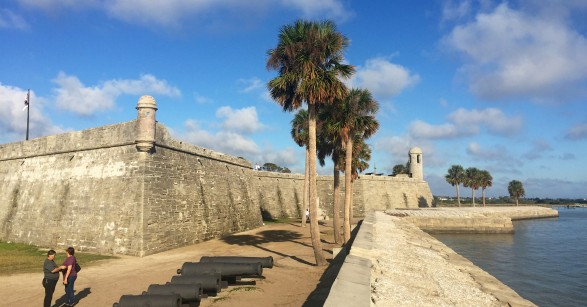 Castillo de San Marcos in St Augustine Florida replaced the last of nine successive wooden forts, which since 1565 had affirmed Spanish dominion and protected Spanish shipping returning to Spain.