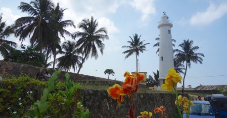 Galle Lighthouse is within the walls of the ancient Galle Fort, a UNESCO world heritage site.