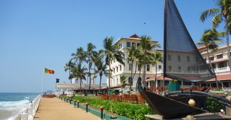 We lunch on the verandah of the old Galle Face Hotel, by the sea, still a truly 'Victorian' establishment and regarded as the most British of hotels east of Suez
