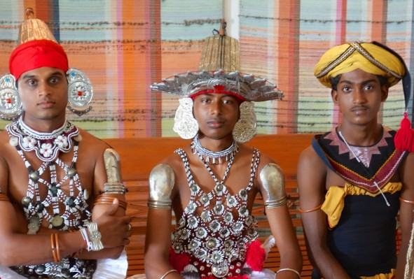 Dancers welcome guests at Jetwing Lighthouse Hotel in Galle