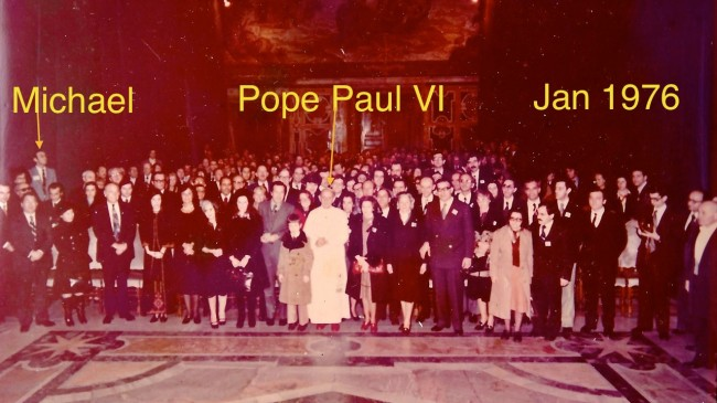 Special Audience for American Express with Pope Paul VI - January 1976 - in the year after I moved from Sydney to New York to live and work