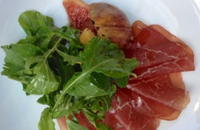 Air-dried Bresaola with Fig Salad at Wilbur's in Llankelly Place
