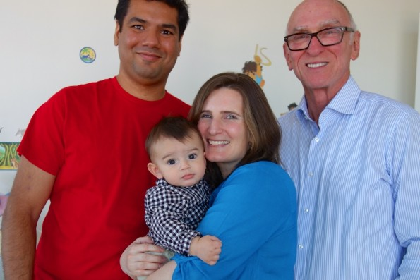 Satya, Jacqui and Ethan with great uncle Michael