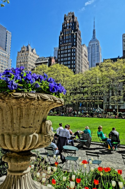 Bryant Park and Empire State Building