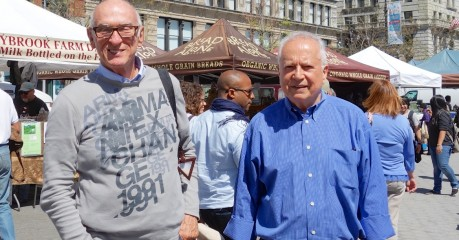 Jim and I walk through the Union Square Greens Market after lunch at the Blue Water Grill