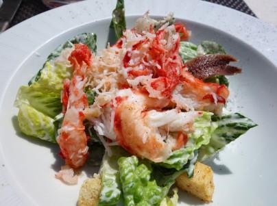 A healthier option today - Crab Caesar Salad