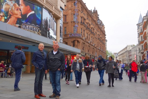 Leicester Square - After the 3-D Gatsby experience, I am looking for 'depth' in my photos