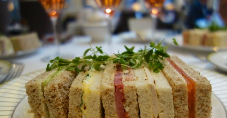 English Finger Sandwiches - in the Afternoon Tea at the Corinthia