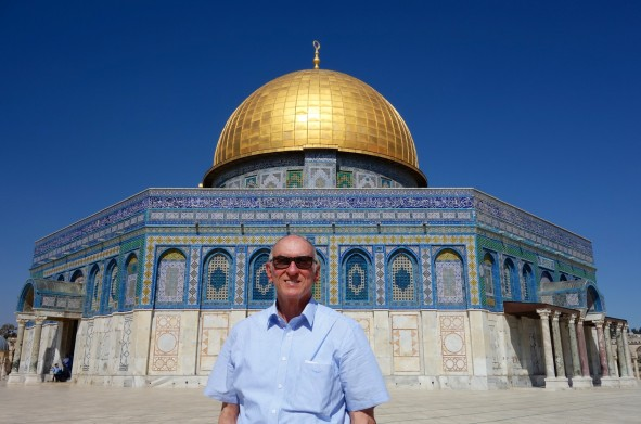 Michael at the Dome of the Rock