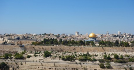 Walls of the Old City across the Kidron Valley from the Mt of Olives where I walked