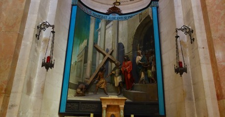 Station 2 - Jesus carries his cross (in the Church of the Condemnation)