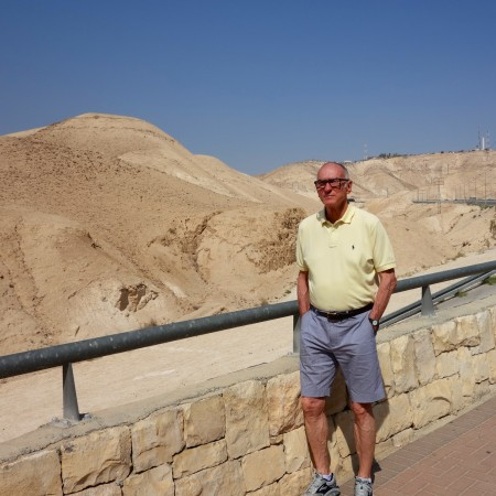 Michael in the Judean Desert on the way to the Dead Sea