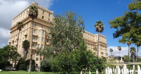A walk in the gardens of the King David Hotel in Jerusalem