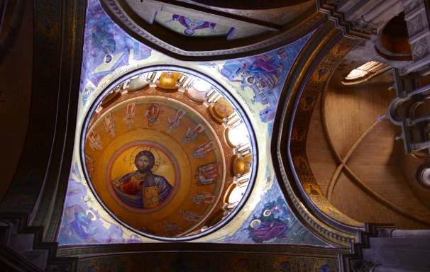 Christ Pantocrator mosaic in the Church of the Holy Sepulchre