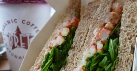 A trip to London is not complete without my Langoustine and Rocket sandwich at Pret A Manger